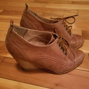 Aldo wedge ankle booties